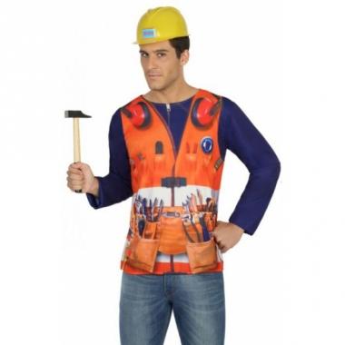 Verkleed bouwvakkers shirt voor heren