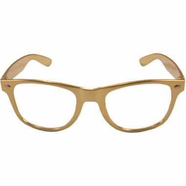 Verkleed bril metallic goud
