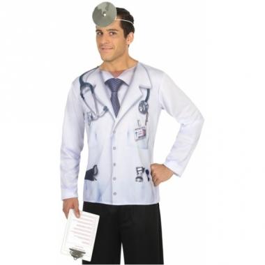 Verkleed dokter shirt voor heren