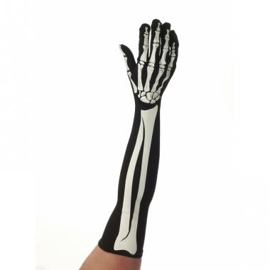 Verkleed geraamte handschoenen lang