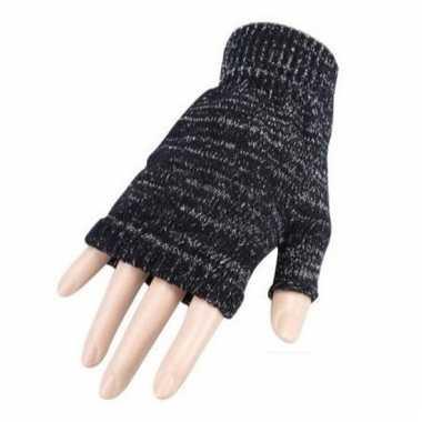 Verkleed grijze handschoenen vingerloos voor volwassenen