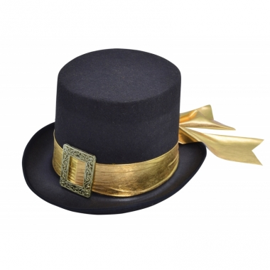 Verkleed hoge deftige hoed met lint