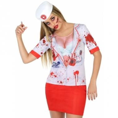 Verkleed horror zuster shirt voor dames