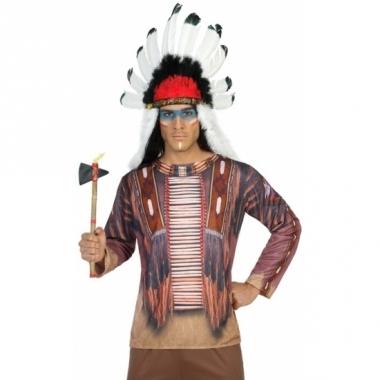 Verkleed indiaan shirt voor heren