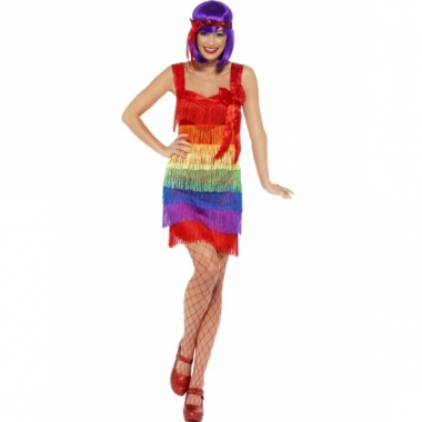 Verkleed jurkje regenboog