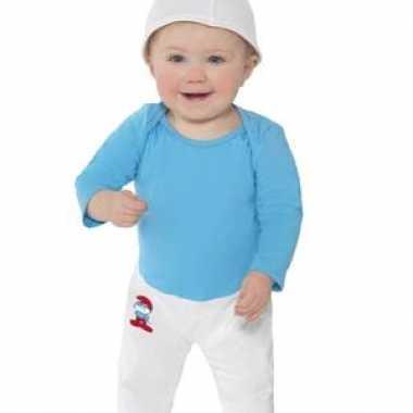 Verkleed kleding baby smurf