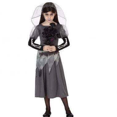 Verkleed kostuum zombie bruid meisje