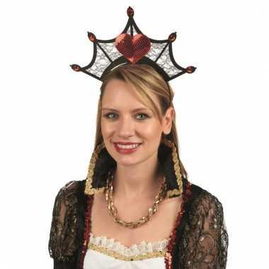 Verkleed kroon hartenkoningin dames