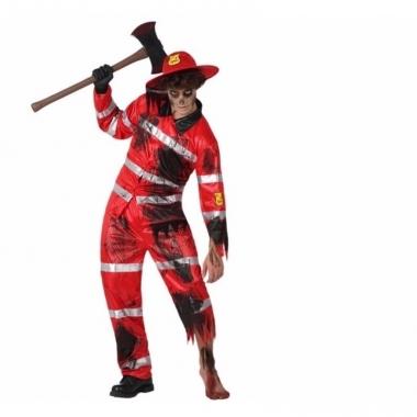 Verkleed outfit griezel brandweer voor volwassenen
