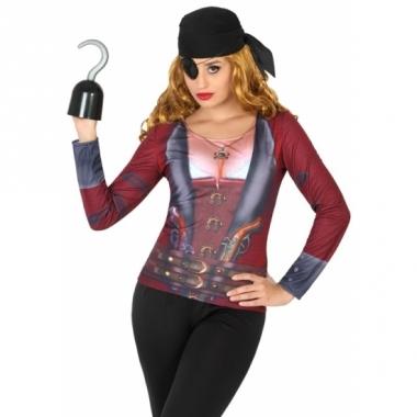 Verkleed piraten shirt voor dames