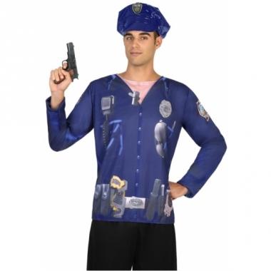 Verkleed politie shirt voor heren