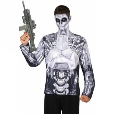 Verkleed robot shirt voor heren
