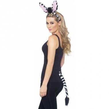 Verkleed set zebra