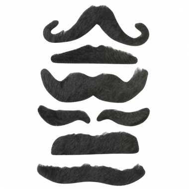 Verkleed snorren set zwart type 2 voor kinderen