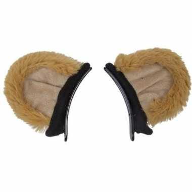 Verkleed/speelgoed leeuw dieren oortjes op clip voor kinderen