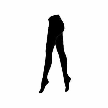 Verkleed zwarte heren panty voor pieten kostuum