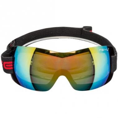 Verkleedaccessoire skibril met spiegelglas