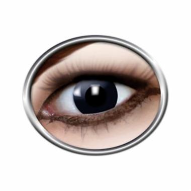 Verkleedaccessoires heks contactlenzen zwart