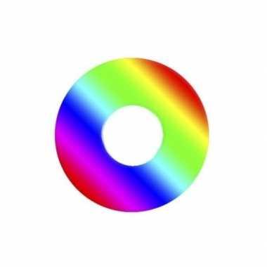 Verkleedaccessoires regenboog contactlenzen
