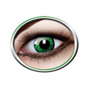 Verkleedaccessoires reptiel contactlenzen groen