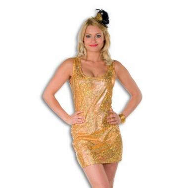 Verkleedjurkje goud voor vrouwen