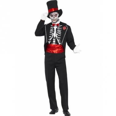 Verkleedkleding day of the dead voor heren