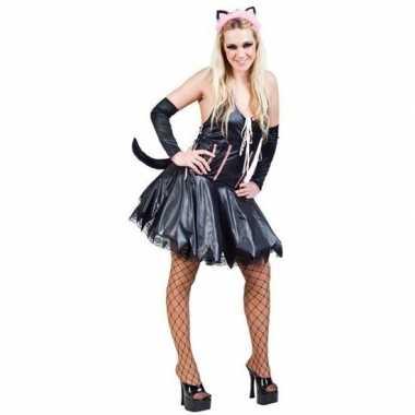 Verkleedkleding katten/poezen jurkjes voor dames