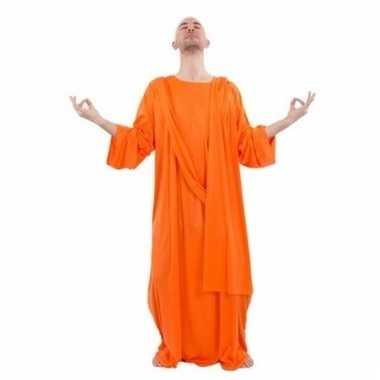 Verkleedkleding monnik/broeder kostuum oranje
