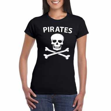 Verkleedkleding piraten shirt zwart dames