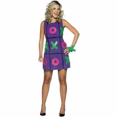 Verkleedkleding tic-tac-toe jurk