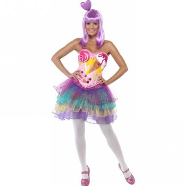Verkleedkostuum snoepgoed jurk dames