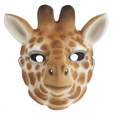 Verkleedmasker giraffe voor kids