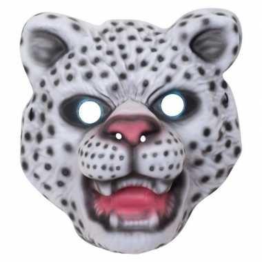 Verkleedmasker sneeuwluipaard voor kids