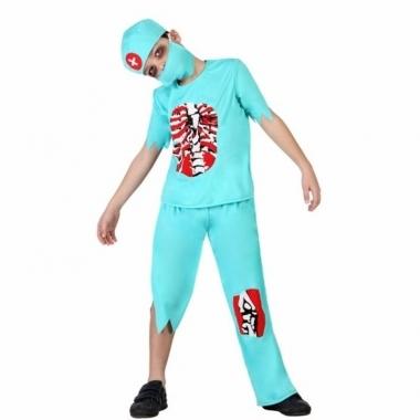 Verkleedset zombie arts voor jongens 4 delig