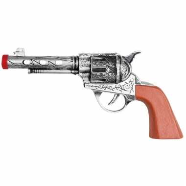 Verkleef sheriff/cowboy wapen zilver 20 cm