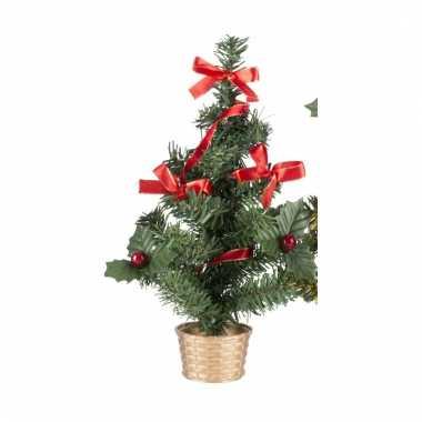 Versierd mini kerstboompje 20 cm