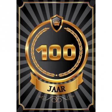 Versiering 100 jaar poster deluxe