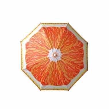 Verstelbare strandparasol / parasol met sinasappel print 180 cm