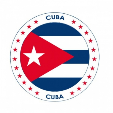 Viltjes met cuba vlag opdruk