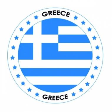 Viltjes met griekenland vlag opdruk