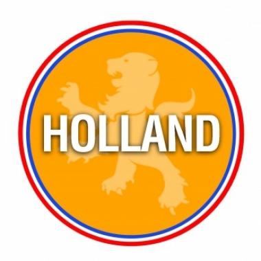 Viltjes met hollands oranje vlag opdruk