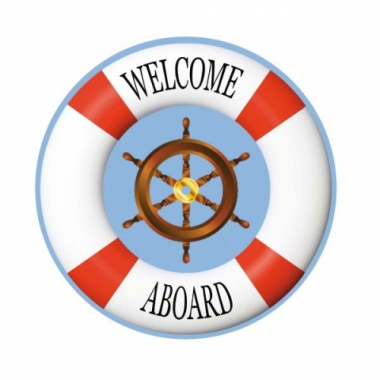 Viltjes met maritieme vlag opdruk