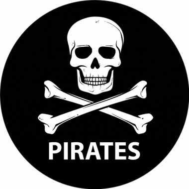 Viltjes met piraten opdruk