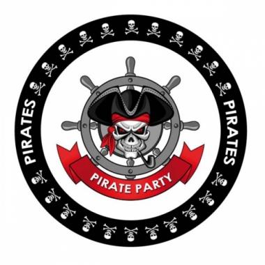 Viltjes met piraten vlag opdruk