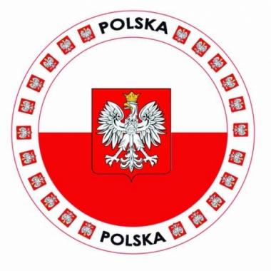 Viltjes met polen vlag opdruk