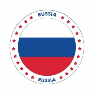 Viltjes met rusland vlag opdruk