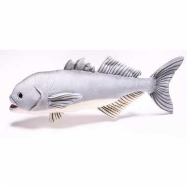 Vissen knuffeltje blauwbaars 43 cm