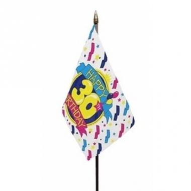 Vlag op stokje happy birthday 30 jaar