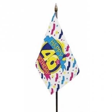 Vlag op stokje happy birthday 40 jaar