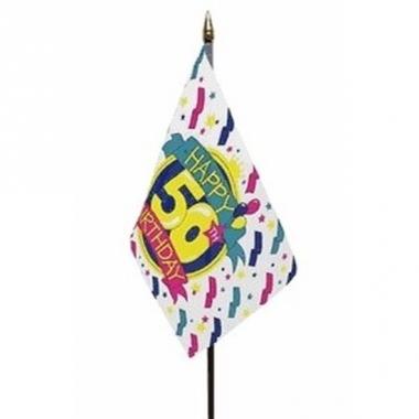 Vlag op stokje happy birthday 50 jaar